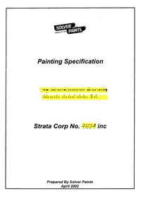 paint specification